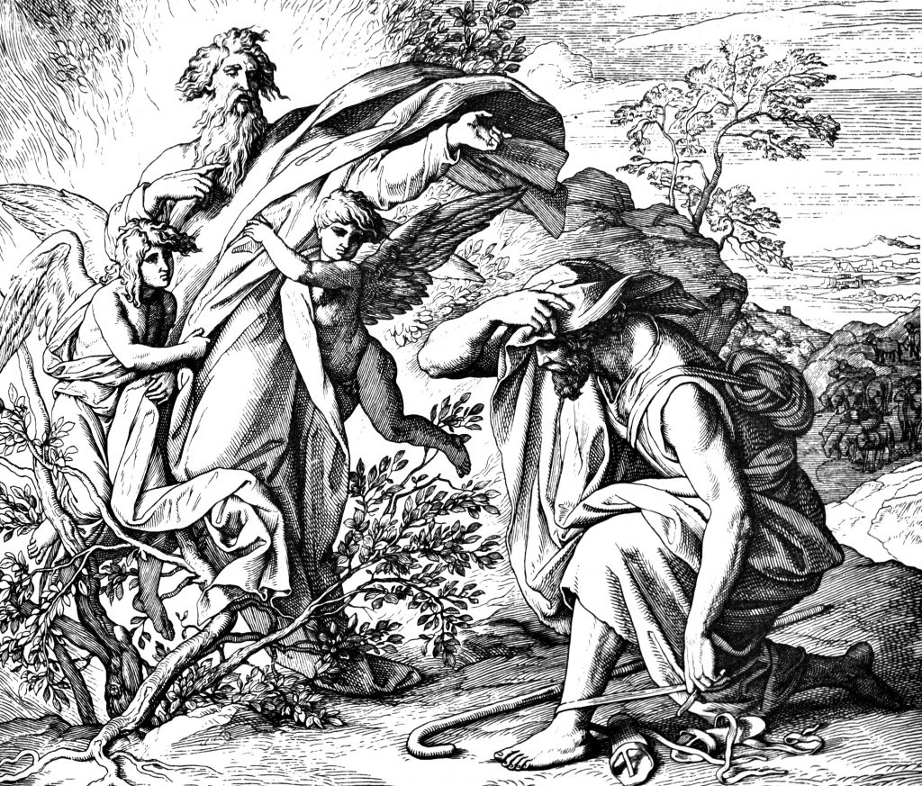 Moses and the Burning Bush 1) Sacred-biblical history of the old and New Testament. two Hundred and forty images Ed. 3. St. Petersburg, 2) 1873. 3) Russia 4) Julius Schnorr von Carolsfeld