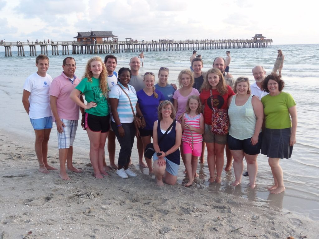 Green Bay team in Naples with Hauslers and new Haitian friend