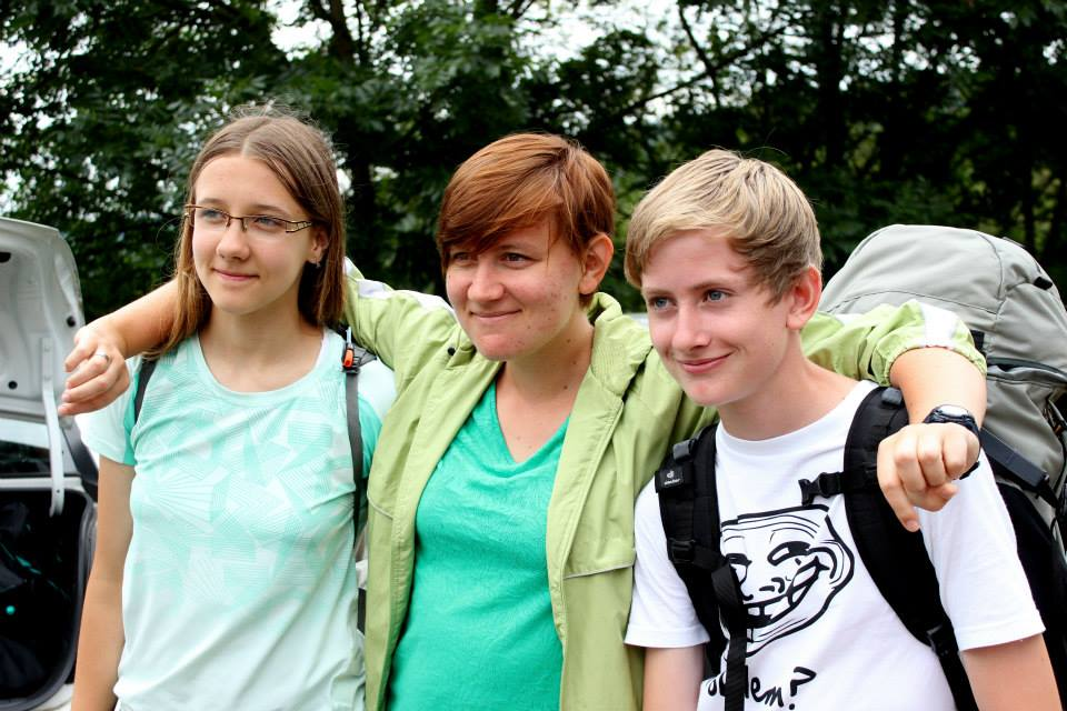 2014 Team Praha photo 22 from Ailalon Church - leah with pals-mary copy