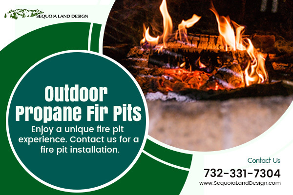 Outdoor Propane Fire Pit Edison