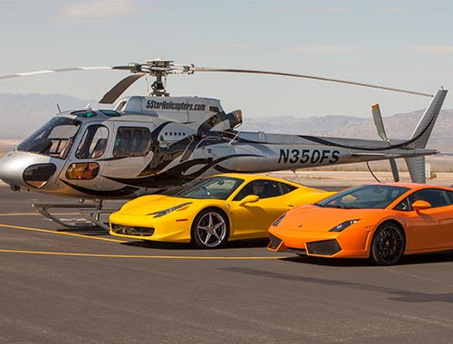 Grand Canyon Air & SpeedVegas Exotic Car Track Pack Driving Experience