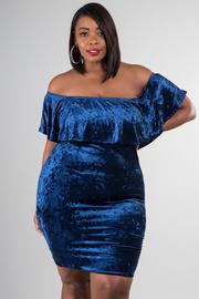 5034fe8b9dd Plus Size Night Out Velvet Sexy Tube Dress