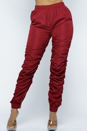 Ruched Windbreaker Jogger Pants.