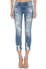 Heavy Destroyed Ankle Cutout Skinny.