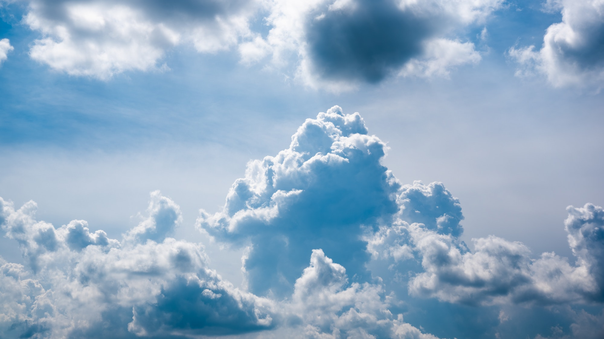 Cumulus cloud closeup