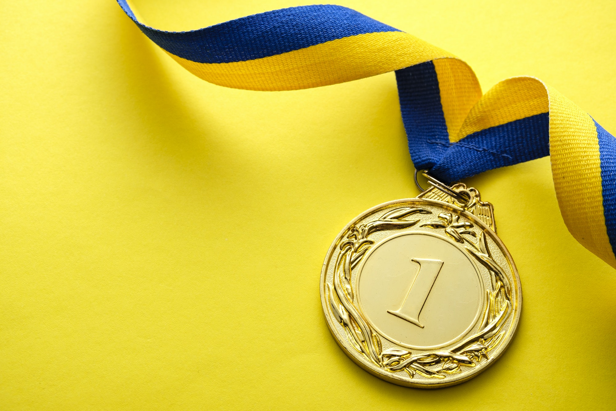 Gold medallion for the winner or champion