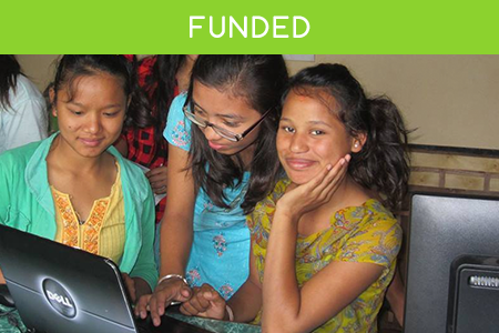 Successfully raised for training young women in Nepal.
