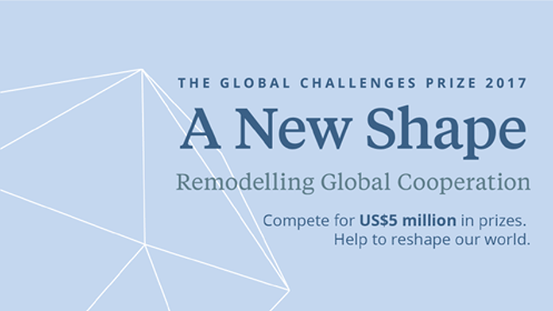 Global Challenges Prize 2017: A New Shape.