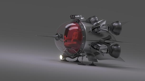 Moon Drone Space Explorer