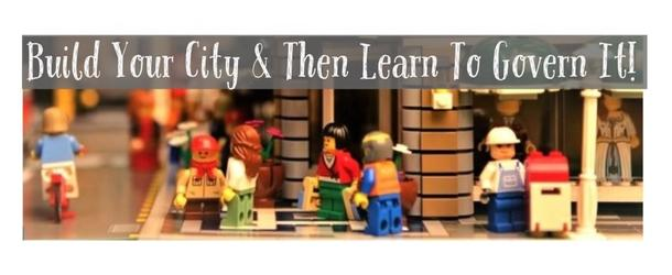 Lego City Building & Governing Workshop for Kids Oct 8th, 12-4pm, at the Hingham Community Center!