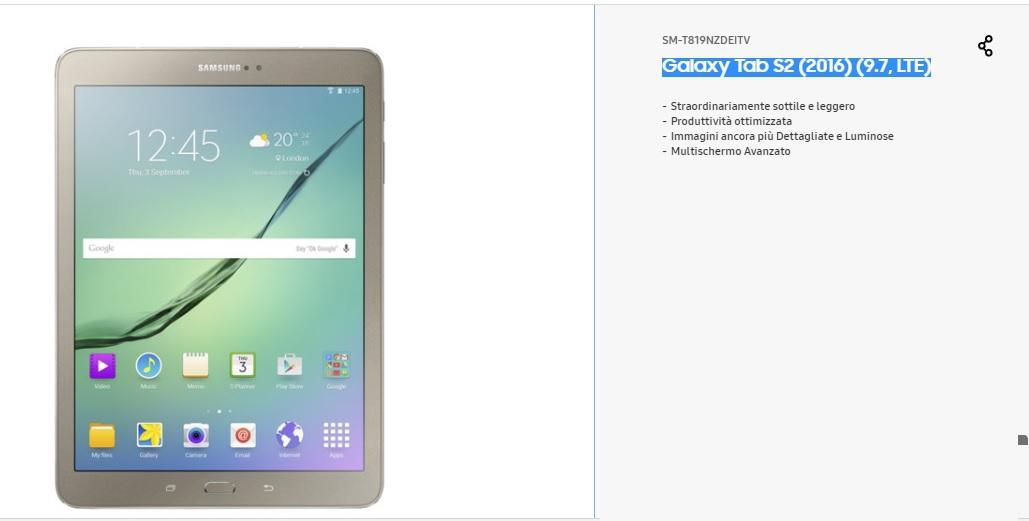 Galaxy Tab S2 (2016) (9.7, LTE) Samsung