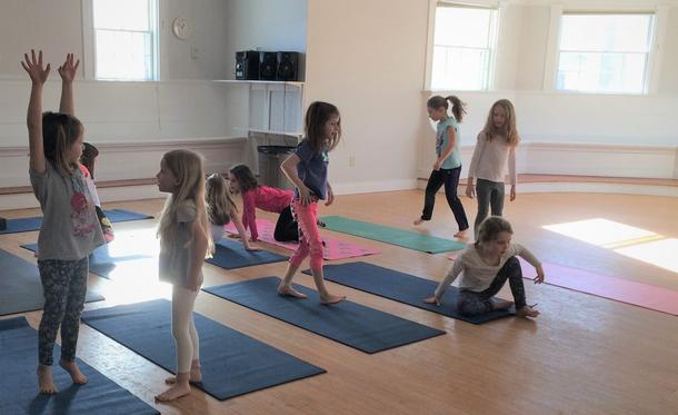 Yoga Workshop for Kids on Early Release Day March 7th, 12:45-2:15pm at the Hingham Community Center!