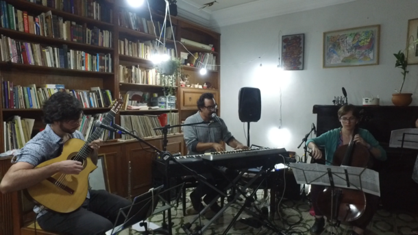 Rafael Martini e Alexandre Andrés participaram da 10ª edição do Som na Toca