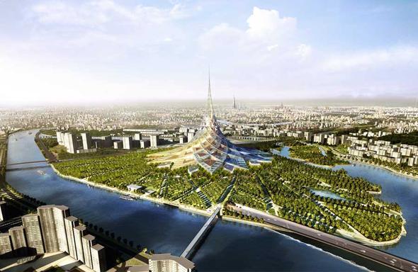 Økologiske byer plasserer mennesket i naturen