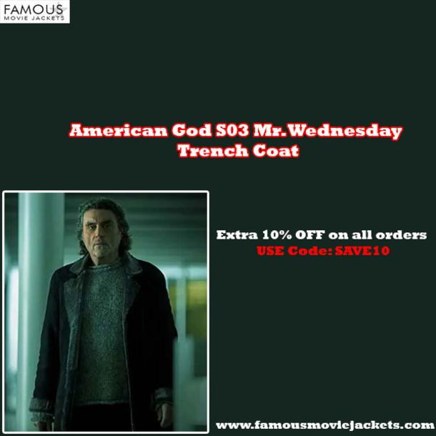 American God S03 Mr. Wednesday Trench Coat