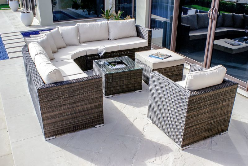 Maze Rattan London Garden Sofa Set With Ice bucket