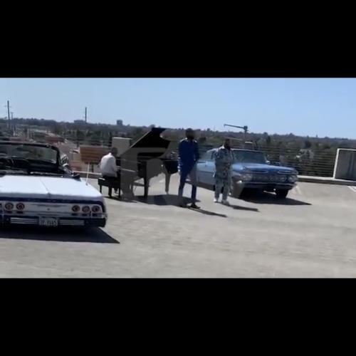 """Dj Khaled ft. Nipsey Hussle and John Legend """"Higher"""" BTS footage"""