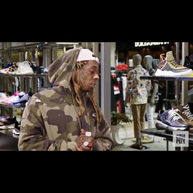 Lil Wayne goes sneaker shopping with Complex