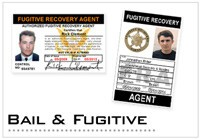 Bail Enforcement-Fugitive Recovery ID Cards