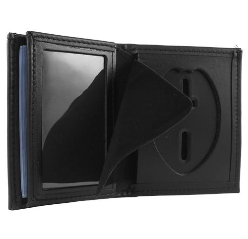 Bifold Leather Badge & ID Wallet (ID Window View)