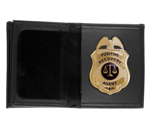 Bifold Leather Badge & ID Wallet with Metro Shield Cutout