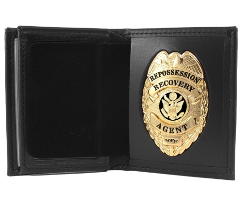 Bifold Leather Badge & ID Wallet