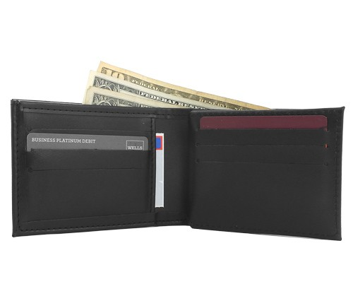 Leather Badge, ID & Credit Card Wallet (Credit card view)
