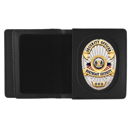 Leather ID & Badge Case with Universal Cutout