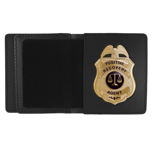 Leather ID & Badge Case with Metro Shield Cutout