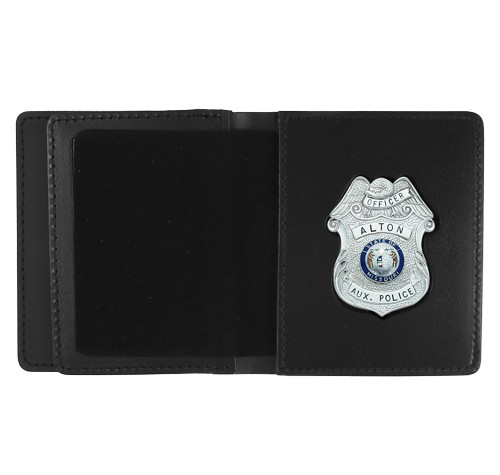 Leather ID & Badge Case with Custom Cutout