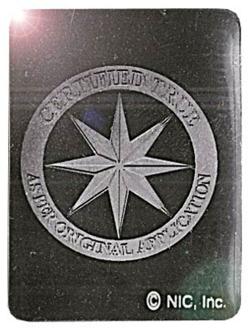 Square Compass Rose Foil Hologram