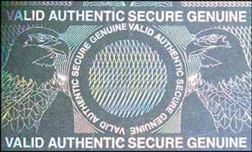 Holographic Overlay - Secure Genuine