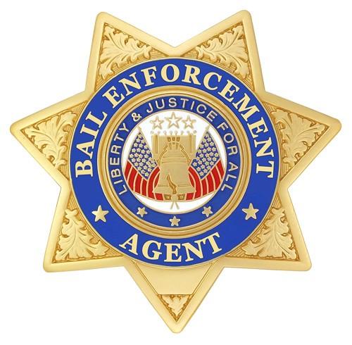7 Point Bail Enforcement Agent Badge Gold