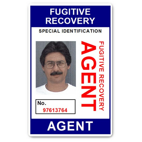 Fugitive Recovery Agent PVC ID Card BFP013 in Blue