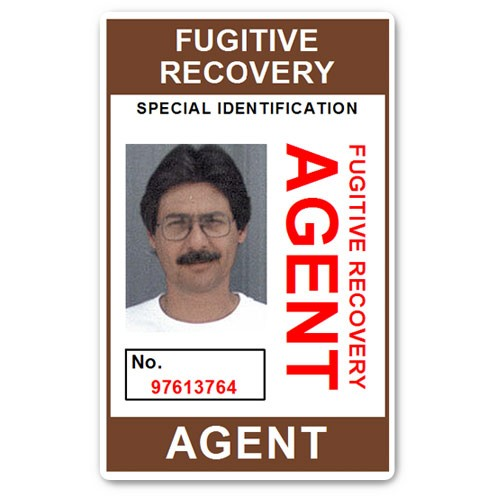 Fugitive Recovery Agent PVC ID Card BFP013 in Brown