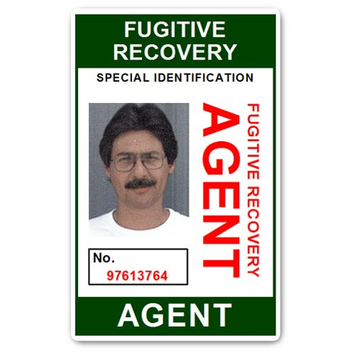 Fugitive Recovery Agent PVC ID Card BFP013 in Green