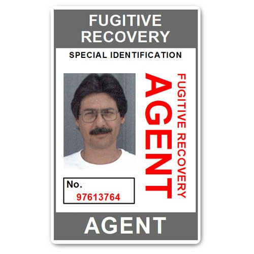 Fugitive Recovery Agent PVC ID Card BFP013 in Grey