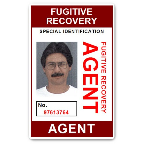 Fugitive Recovery Agent PVC ID Card BFP013 in Maroon