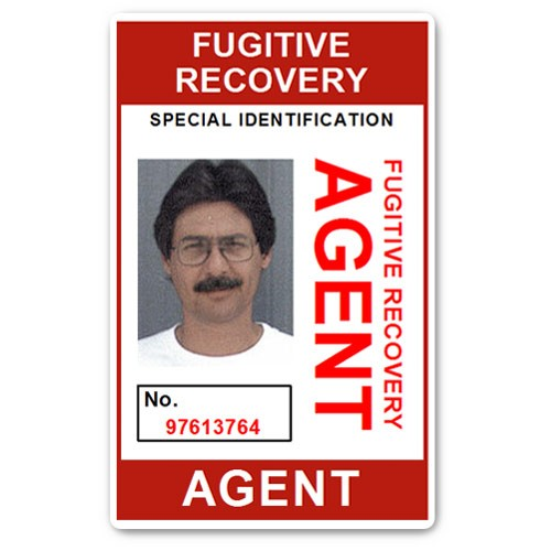 Fugitive Recovery Agent PVC ID Card BFP013 in Red