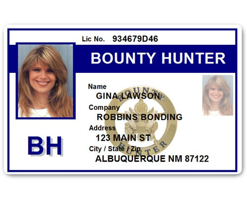 Bounty Hunter PVC ID Card BFP015 in Blue