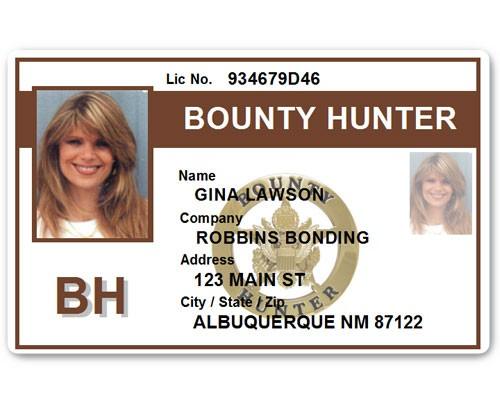 Bounty Hunter PVC ID Card BFP015 in Brown