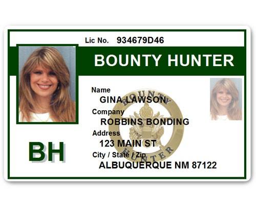 Bounty Hunter PVC ID Card BFP015 in Green