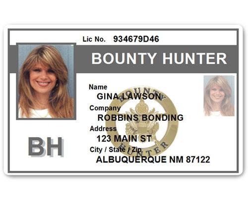 Bounty Hunter PVC ID Card BFP015 in Grey