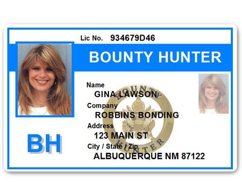 Bounty Hunter PVC ID Card BFP015 in Light Blue