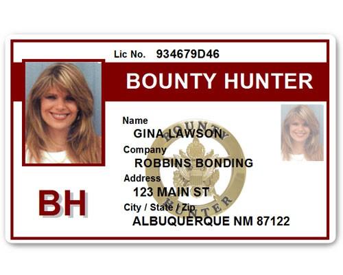 Bounty Hunter PVC ID Card BFP015 in Maroon