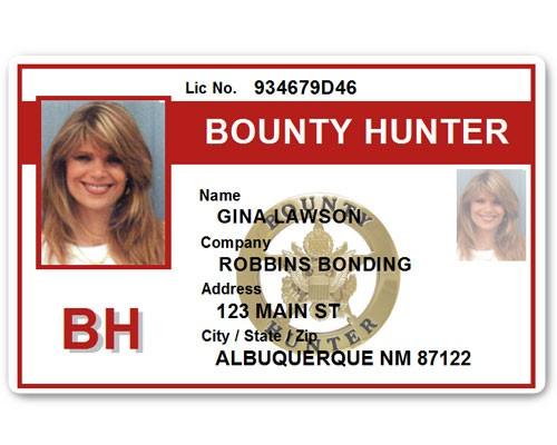 Bounty Hunter PVC ID Card BFP015 in Red