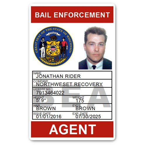 Bail Enforcement PVC ID Card BFP017 in Red