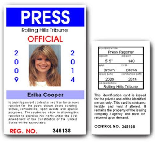Press PVC ID Card C01PVC