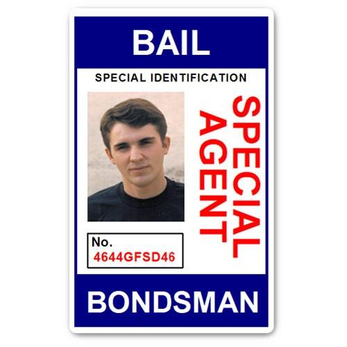 Bail Bondsman Special Agent PVC ID Card in Blue