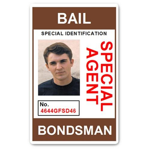 Bail Bondsman Special Agent PVC ID Card in Brown